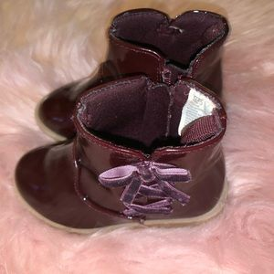 Burgundy Toddler Booties Gymboree